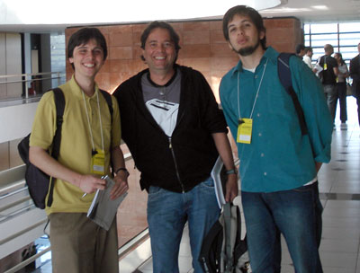 Fred Amstel e o José Pirauá, no SBDI (Curitiba)
