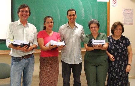 Luiz Agner, Marcos Balster, Stephania Padovania, Vera Nojima e Anamaria de Moraes.