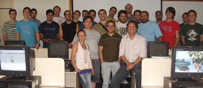 Foto do encerramento da disciplina do curso de Pós-Graduação em Desenvolvimento de Sistemas Web, na UnoChapecó, SC.