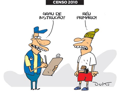 Cartum sobre o Censo Demográfico 2010