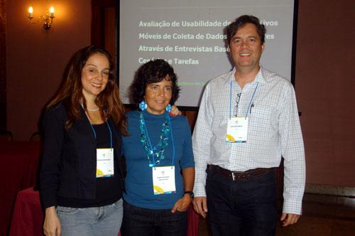 Patricia, Simone e Agner no IHC 2010