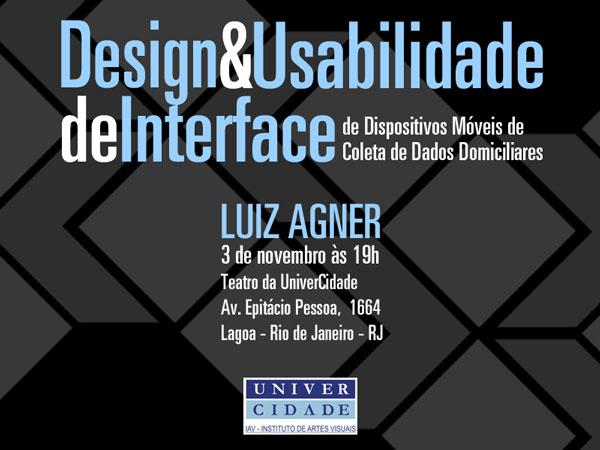Palestra no Teatro da UniverCidade (Ipanema)
