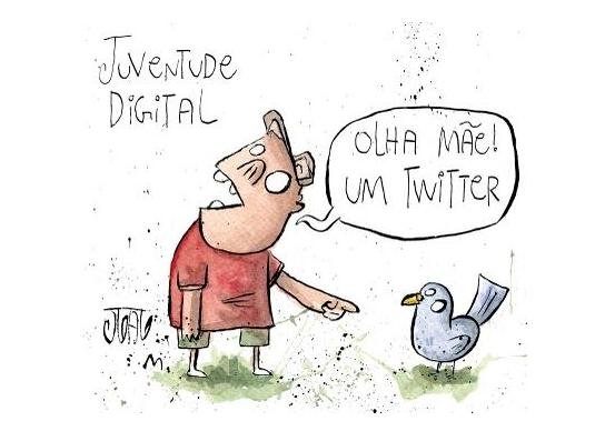 Juventude digital - cartoon
