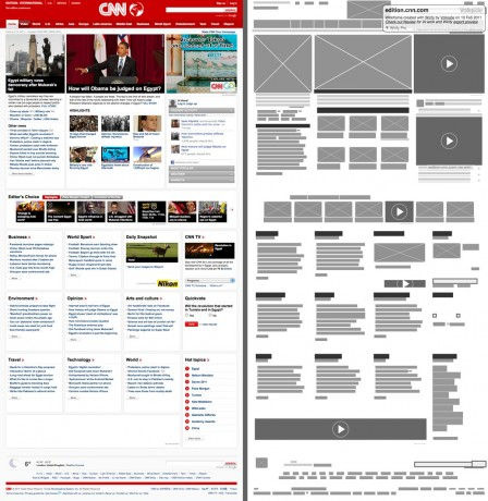 wireframe da CNN