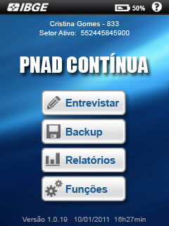 Estudos para interfaces do questionário eletrônico da PNAD Contínua (IBGE)