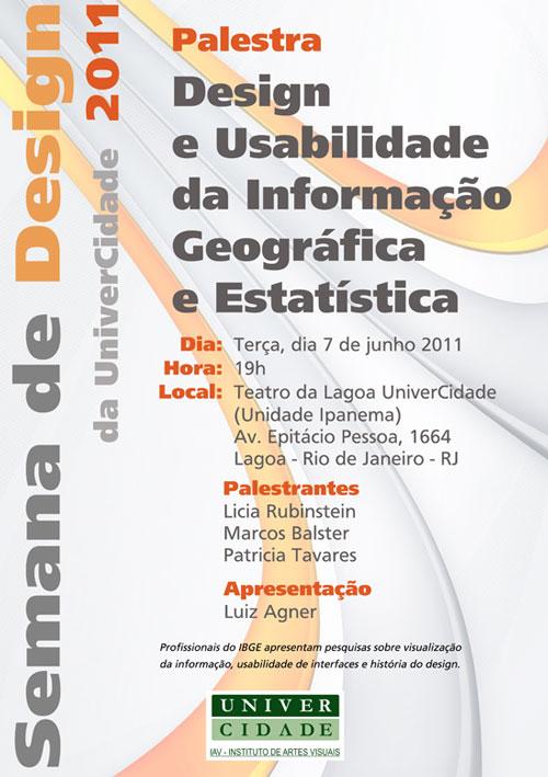 Palestra: design da informação geográfica e estatística