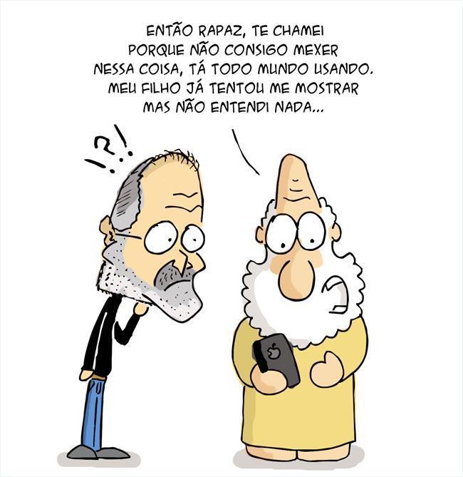 Steve Jobs - cartoon