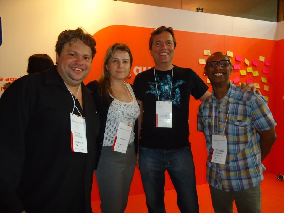 Guilherme Santa Rosa, Cinhtia Kulpa, Luiz Agner e Robson Santos no Interaction SA 2012.