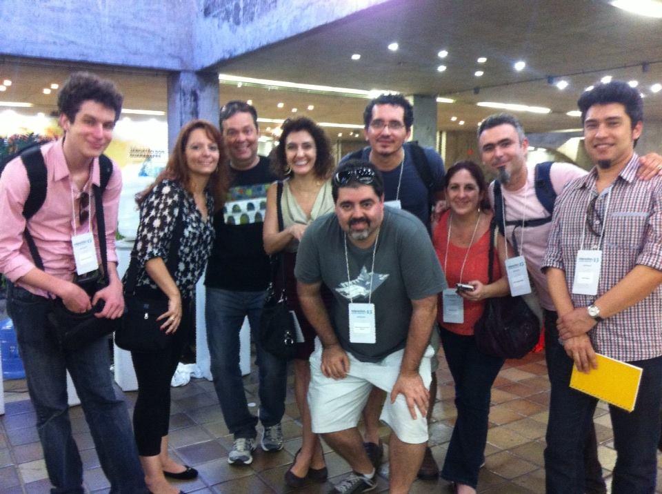 Com os colegas interacionistas no Congresso Interaction South America, Recife, 2013
