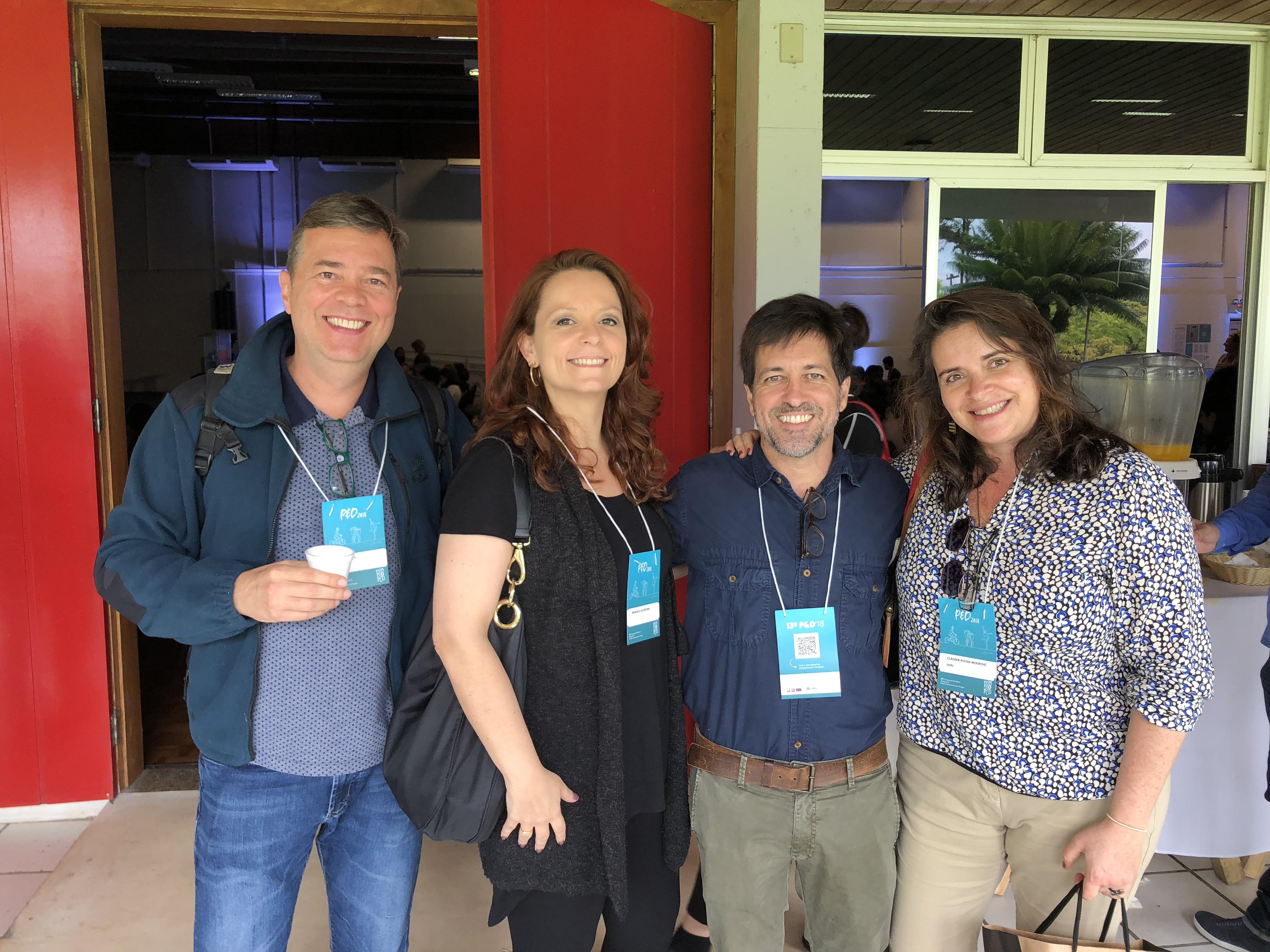 Luiz Agner, Manuela Quaresma, Giuseppe, Cláudia Mourthé - Joinville, 2018.