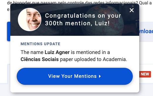300 citações no site Academia.edu